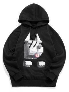 ZAFUL Graphic Pattern Casual Hoodie - Black Xl