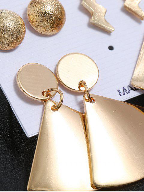 5 парГеометрические Серьги Комплект С леопардовым принтом - Золотой  Mobile