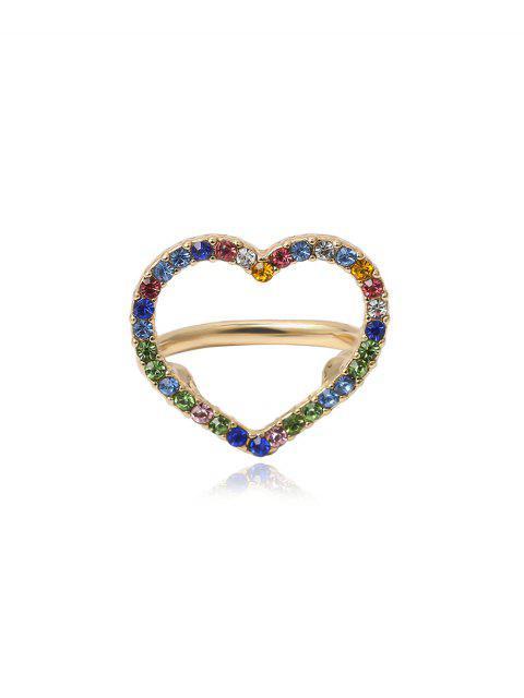 Anillo Huecos de Diamantes de Imitación de Color - Oro  Mobile