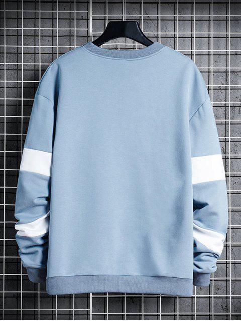 信對比度面板圓領運動衫 - 輕的天藍色 XS Mobile