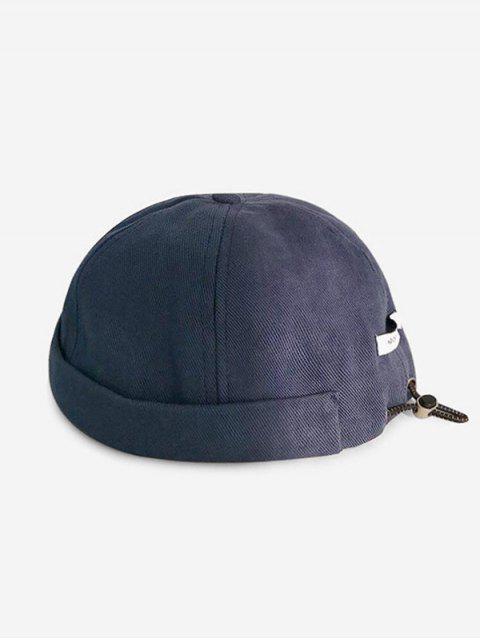 Sombrero de Cabbie Ajustable con Cordones de Color Sólido - Cadetblue  Mobile