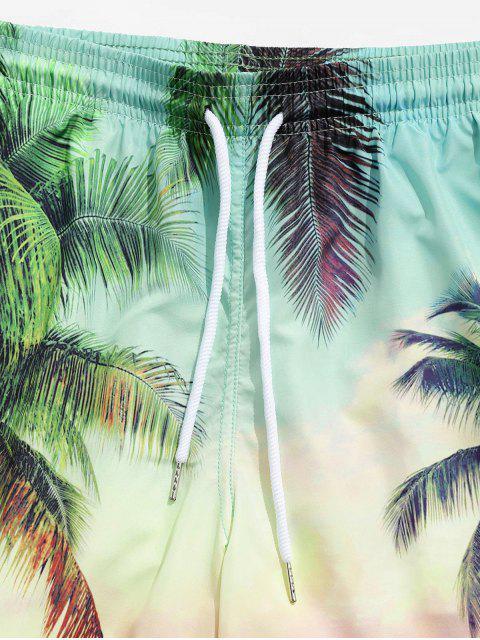 women's Beach Coconut Tree Print Board Shorts - MULTI M Mobile