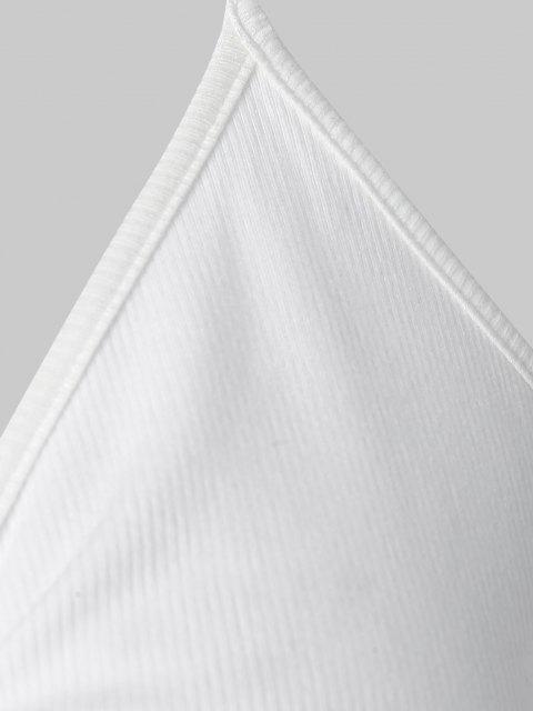 ZAFUL Regatas com Nervuras Cortado - Branco XL Mobile