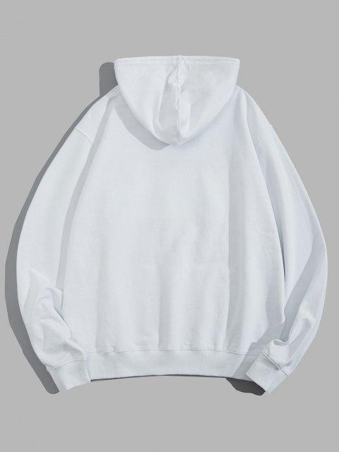 women Helping Hands Graphic Front Pocket Lounge Hoodie - WHITE XL Mobile