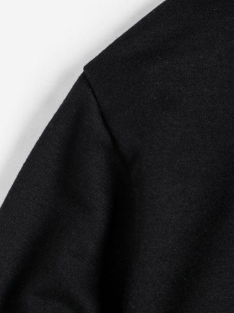 ZAFUL Sweat à Capuche Dessin Animé Imprimé avec Poche Jointive - Noir 2XL Mobile