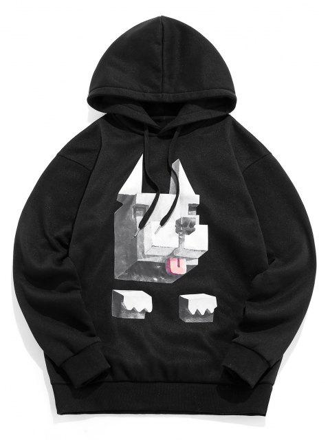affordable ZAFUL Graphic Pattern Casual Hoodie - BLACK XL Mobile