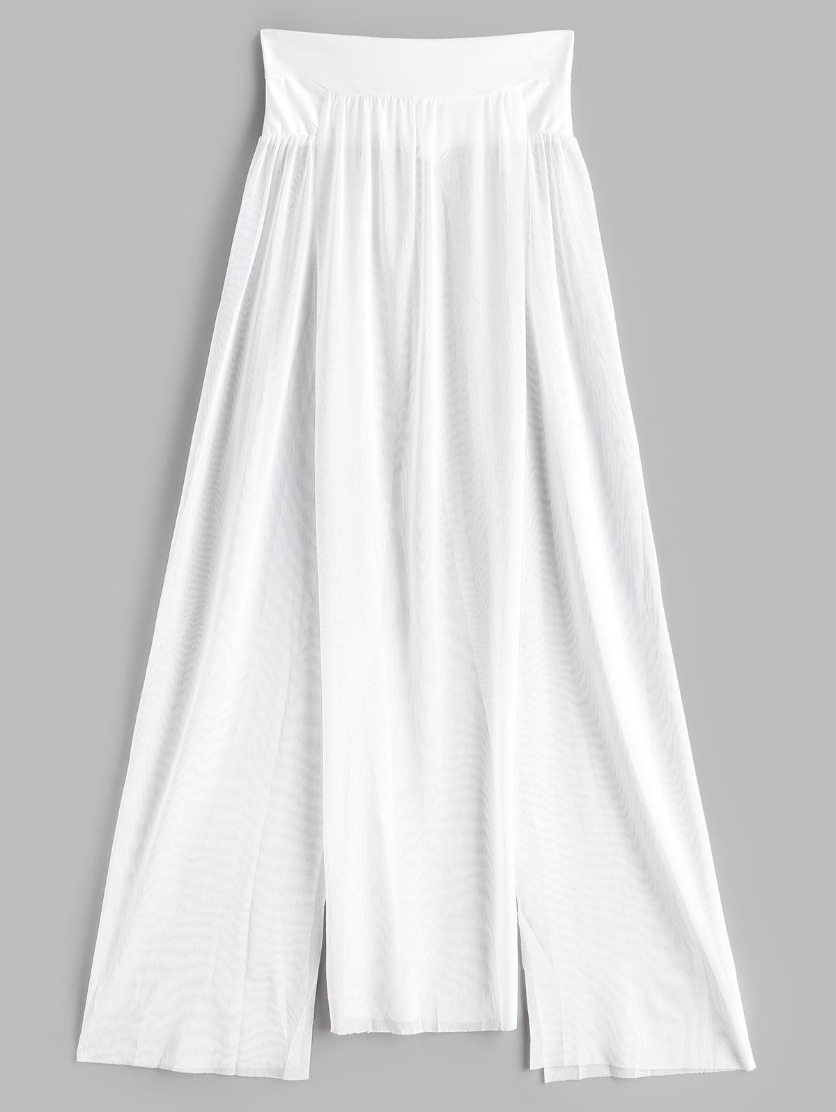 Jupe Couverture Fendue en Maille Transparente Taille unique - Zaful FR - Modalova