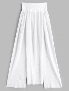 انظر من خلال شبكة الشق التستر التنورة - أبيض