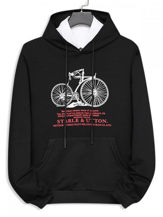 自転車のレターは、クルーネックスウェット - ブラック XS