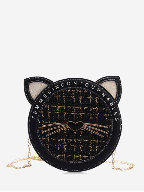 Cadena Tweed Cat Bolsa de Cantina - Negro  Mobile