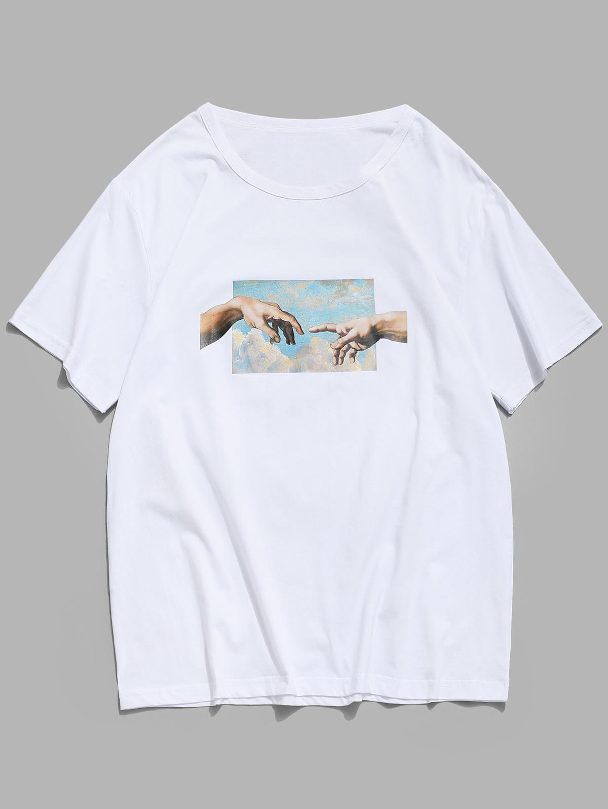 Helping Hands Print Short Sleeves T-shirt thumbnail