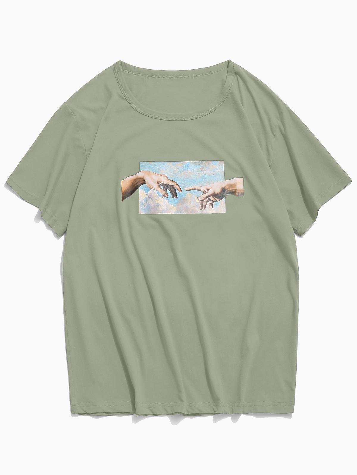 Helping Hands Pattern T-shirt Helping Hands Pattern T-shirt