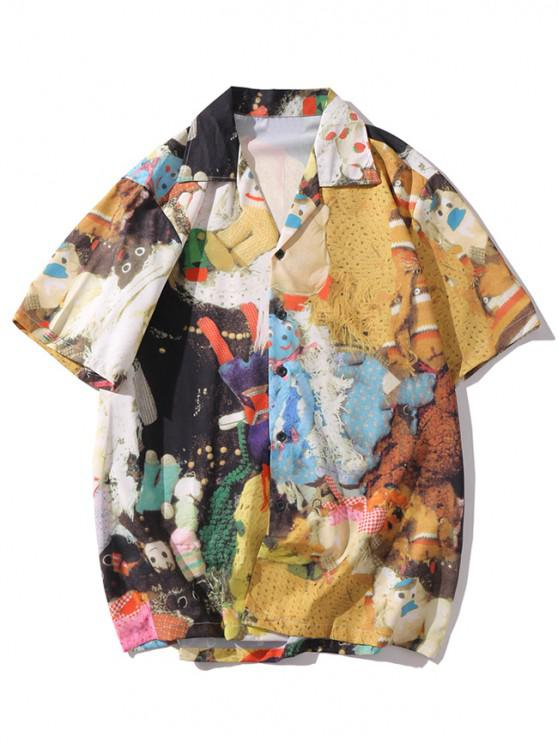 new Toy Printed Short Sleeves Shirt - MULTI-A 2XL