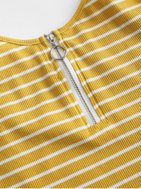 ZAFUL Top Cami Listrado com Meio Zipper - Vara de Ouro XL Mobile