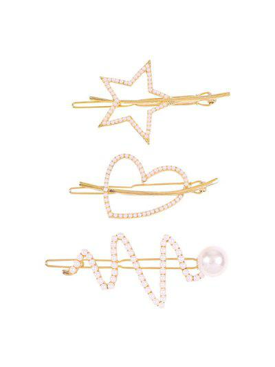 Chic Faux Pearl Hairpins Set