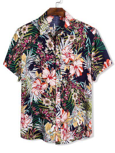 Ditsy Floral Hawaii Short Sleeve Shirt - Multi M