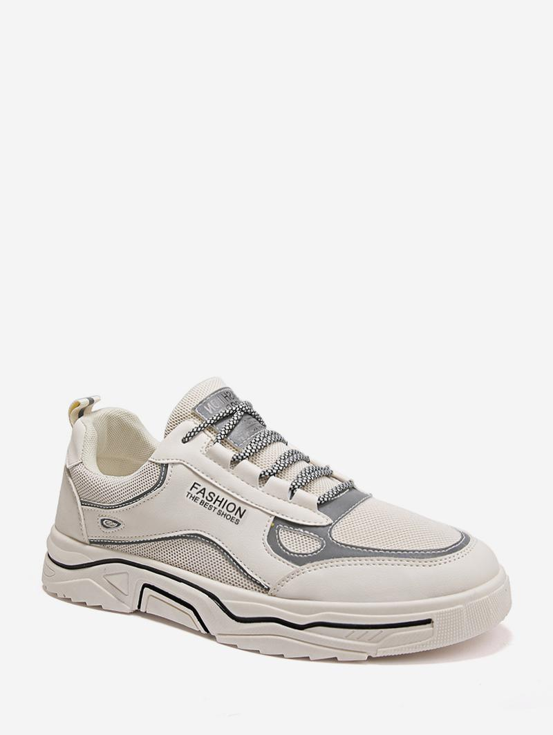 Mesh Trim Casual Reflective Skate Shoes