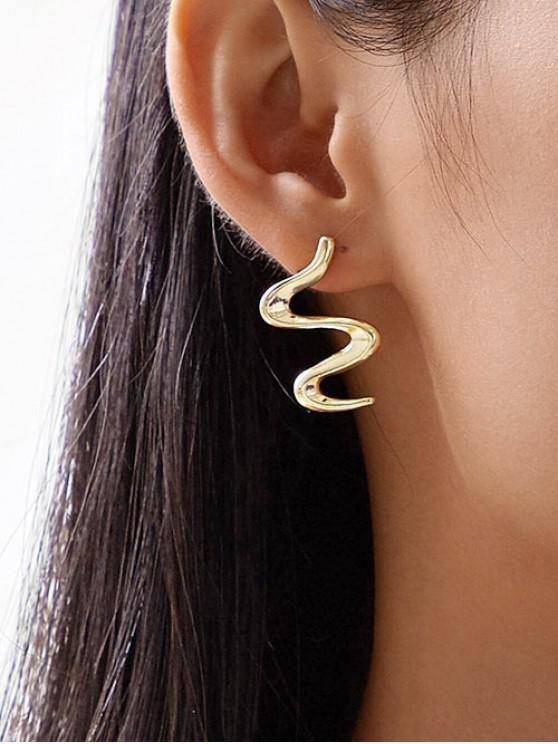 online Brief S-shaped Stud Earrings - GOLD