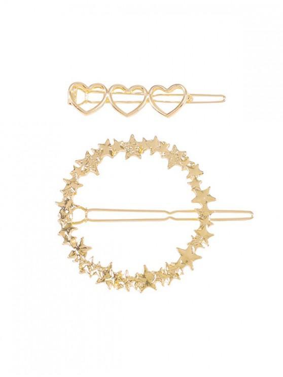 Set de Bikini con Estampado de Estrella de Corazón 2 Piezas - Oro