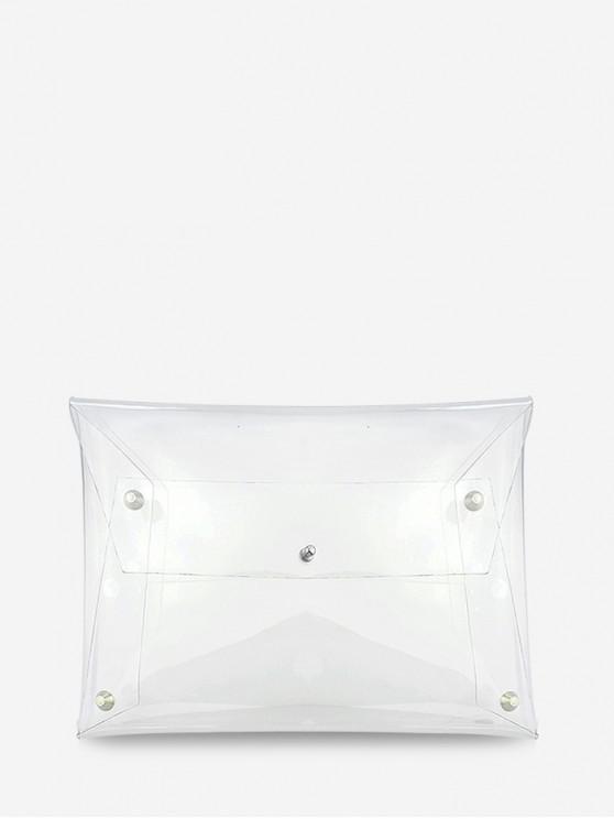 ladies PVC Transparent Clutch Bag - TRANSPARENT