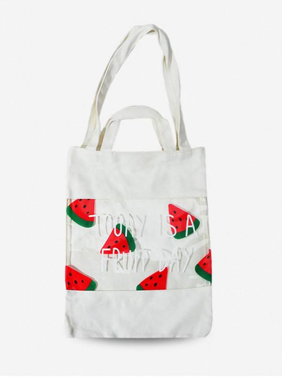 Frutta Stampa trasparente Tote Bag - Bianca