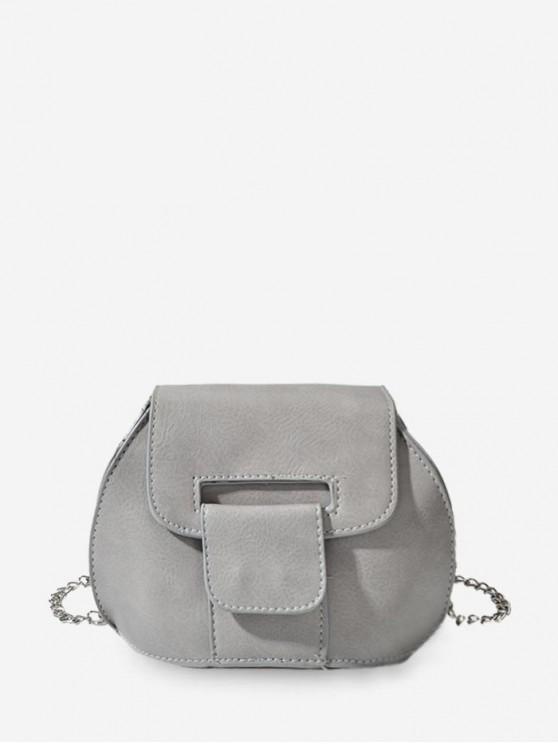 buy Mini Chain Cross Body Bag - GRAY CLOUD