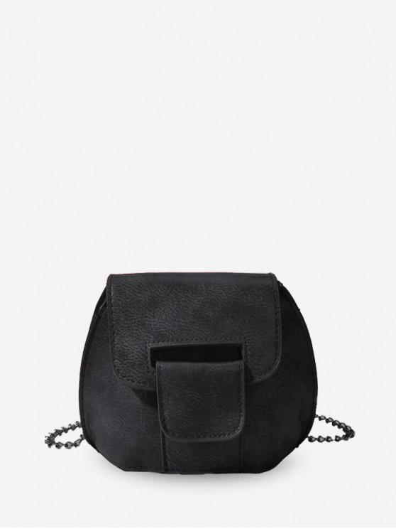 womens Mini Chain Cross Body Bag - BLACK