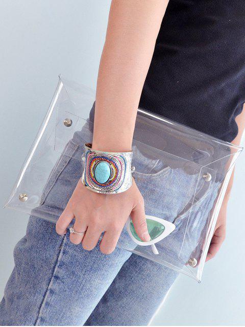 Bolso Imitación Cuero Cremallera Transparente PVC - Transparente  Mobile