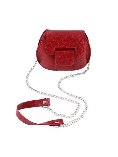 Mini Bandolera de Cadenas con Estamapdo Escotado de Cuerpo - Rojo Lava  Mobile