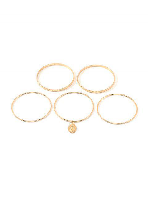 Conjunto de Flecos de Estilo Cuadro Simple - Oro  Mobile