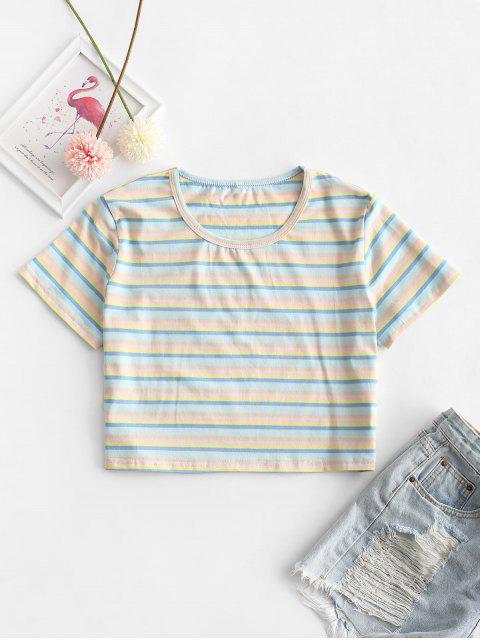T-shirt Court Rayé Coloré - Multi-A M Mobile