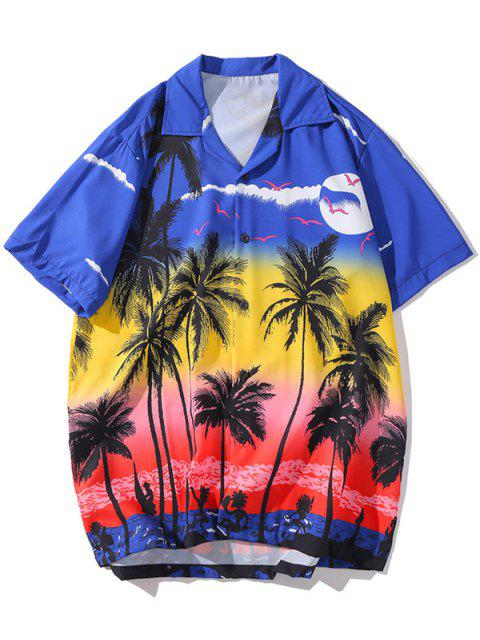 women's Coconut Tree Print Leisure Shirt - MULTI-A XL Mobile
