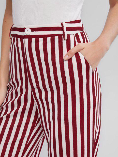 ZAFUL Pantalon Rayé Jambe Large à Taille Haute - Multi-A L Mobile