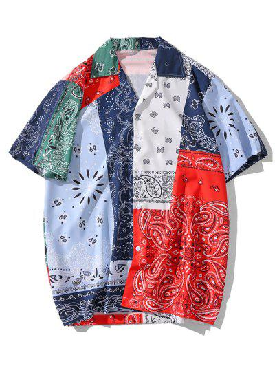 Paisley Patchworks Printed Button Shirt - Multi-a M
