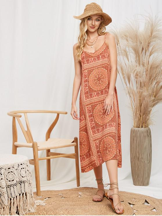 outfits Cami Paisley Print Midi Dress - MULTI-A L