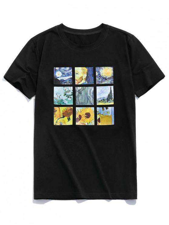 best ZAFUL Graphic Painting Print T-shirt - BLACK 2XL
