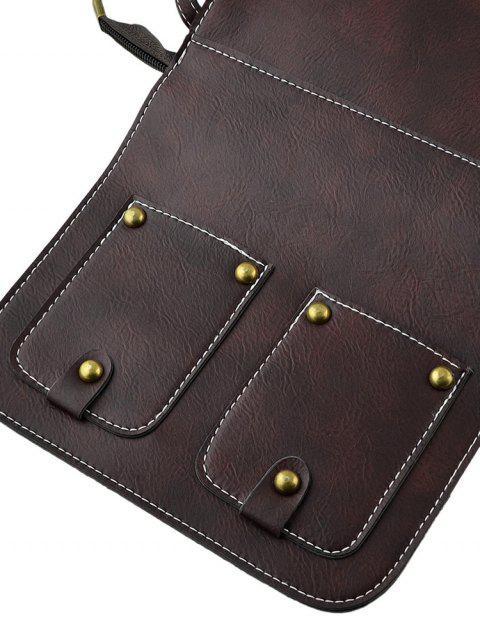 Прямоугольная Сумка через плечо С заклепками - Темно-коричневый  Mobile