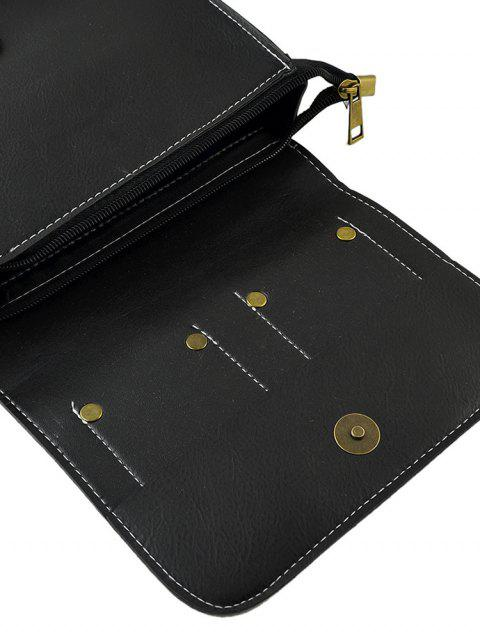 Bolsa Al Hombro Rectangular y Remaches - Negro  Mobile