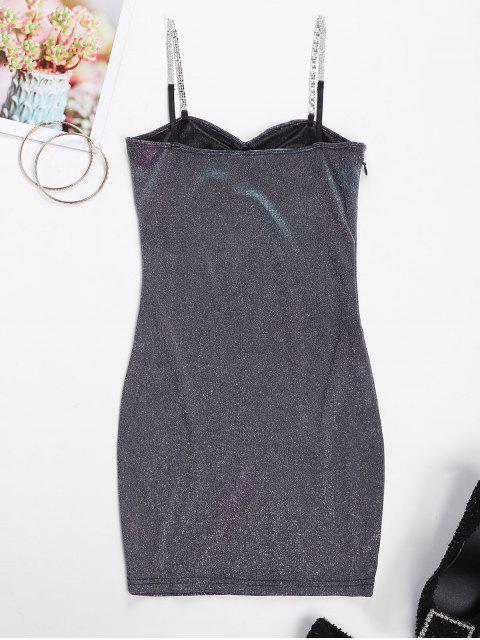 Party Vestito da Ballo Scintillante con Diamante Artificiale - Multi Colori-A M Mobile
