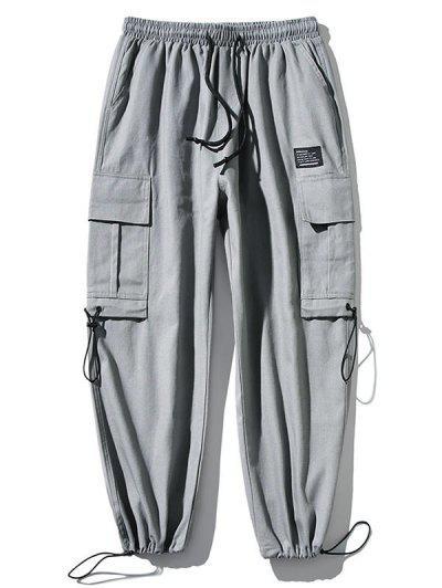 Applique Side Pocket Jogger Pants