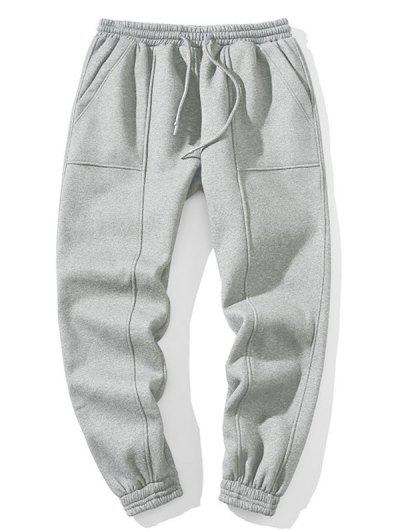 Applique Solid Jogger Pants
