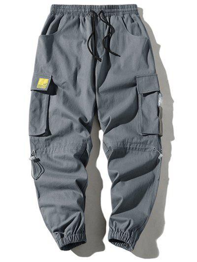 Applique Pocket Cargo Pants