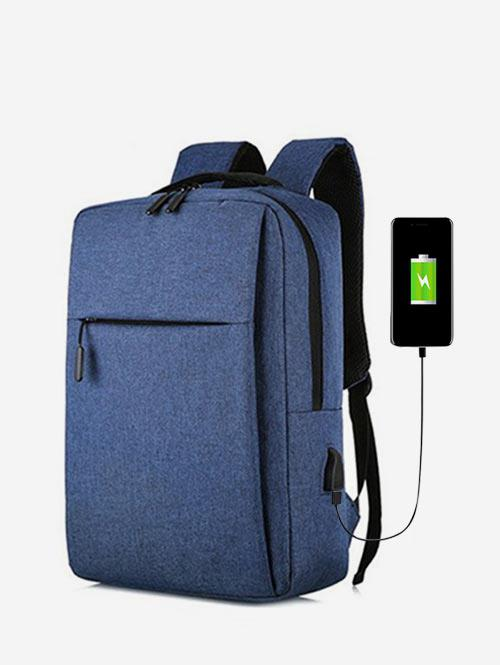 Pure Color Large Capacity Waterproof Laptop Backpack