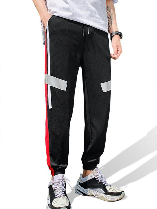 Color Blocking Casual Style Jogger Pants thumbnail