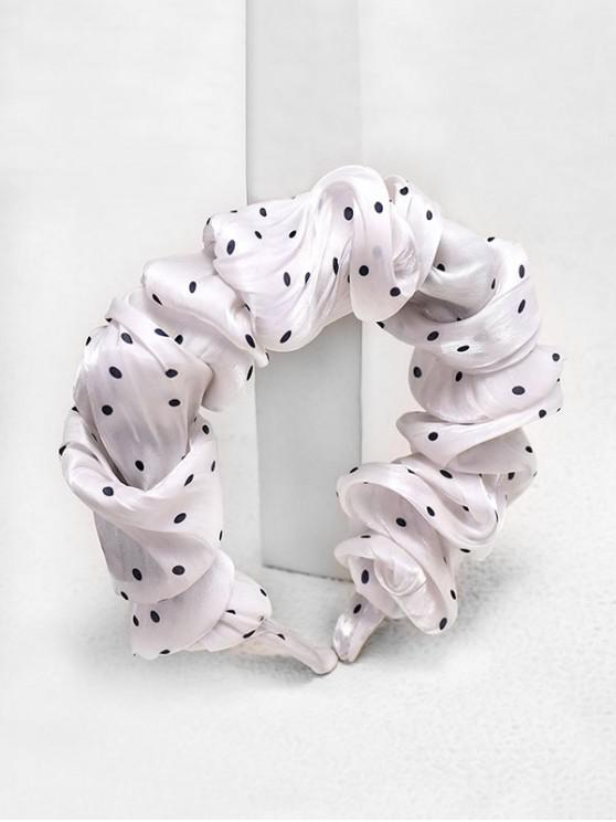 online Dots Print Fabric Hairband - WHITE