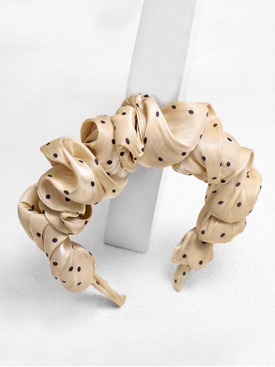 hot Dots Print Fabric Hairband - COFFEE