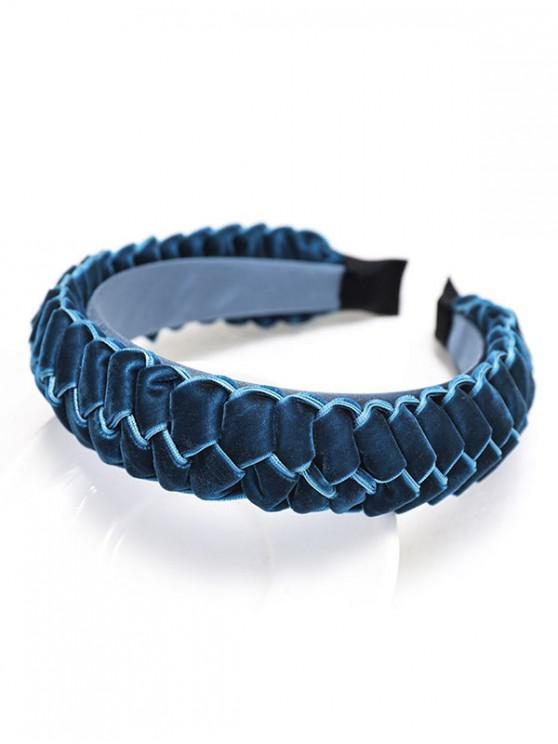 outfit Braid Velour Wide Hairband - BLUE