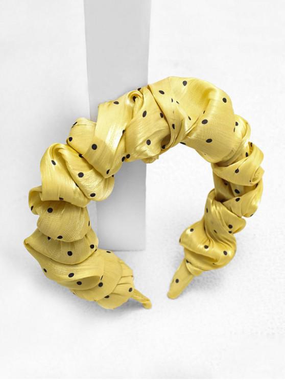 Принт в горошек Головная Повязка - Жёлтый