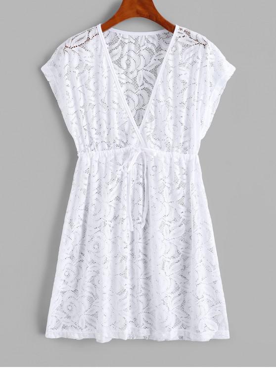 Vestido de malha com alças - Branco Um Tamanho