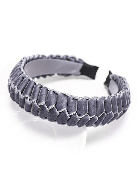 Trenza de Velour Hairband - Gris  Mobile